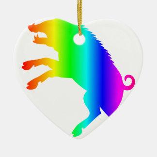 虹の雄豚 セラミックオーナメント