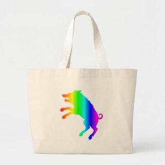 虹の雄豚 ラージトートバッグ