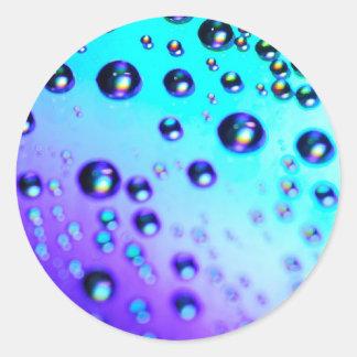 虹の雨滴 ラウンドシール