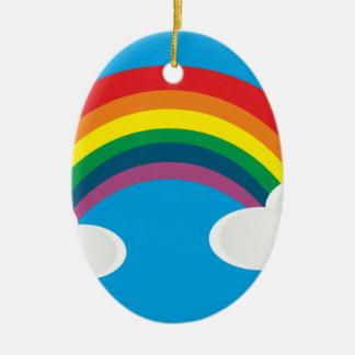 虹の雲のイメージ セラミックオーナメント
