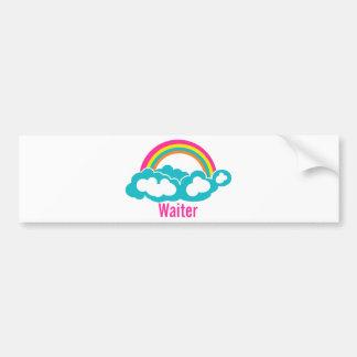 虹の雲のウェイター バンパーステッカー