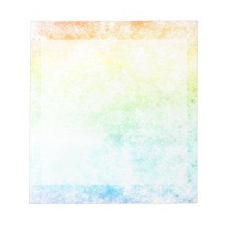 虹の雲の曇った日 ノートパッド