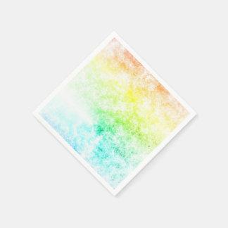 虹の雲の背景は曇っているカスタマイズか、またはとどまります スタンダードカクテルナプキン