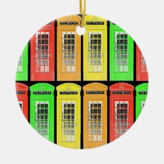 虹の電話ボックス セラミックオーナメント