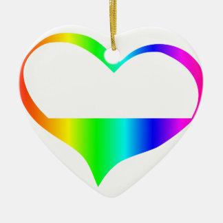 虹の非性愛の記号 セラミックオーナメント