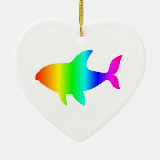 虹の鮫#2 セラミックオーナメント