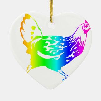 虹の鶏4 セラミックオーナメント