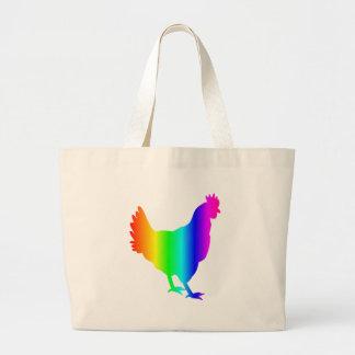 虹の鶏 ラージトートバッグ