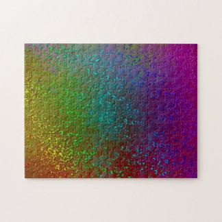 虹の(ばちゃばちゃ)跳ねるのデジタル混合メディアの芸術のデザイン ジグソーパズル