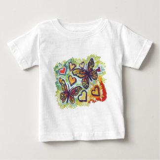 虹の(昆虫)オオカバマダラ、モナーク ベビーTシャツ