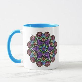 虹のDoilyのモザイク マグカップ
