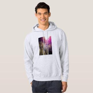 虹のForrestの男性基本的なフード付きのスエットシャツ パーカ