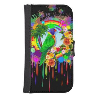 虹のLorikeet Samsungの銀河系S4のウォレットケース