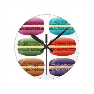 虹のmacarons ラウンド壁時計