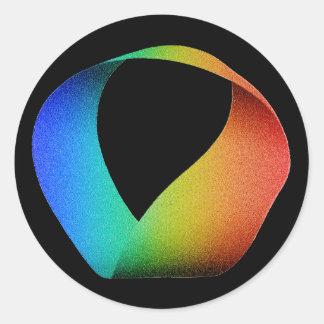 虹のMobiusストリップ ラウンドシール