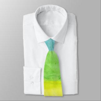 虹のOzias著抽象的な水彩画のタイ ネクタイ