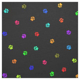 虹のPawprintの生地 ファブリック