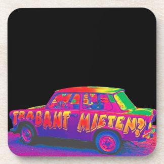 虹のTrabant車、黒い背部 コースター
