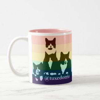 虹のTuxedoTrioのマグ ツートーンマグカップ
