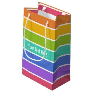 虹はカスタムなギフトバッグを着色します スモールペーパーバッグ