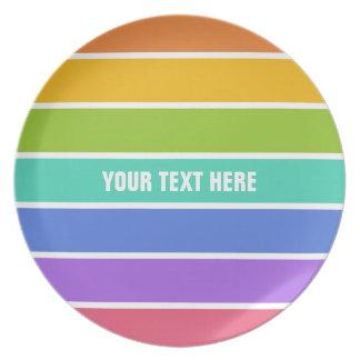 虹はカスタムなプレートを着色します プレート