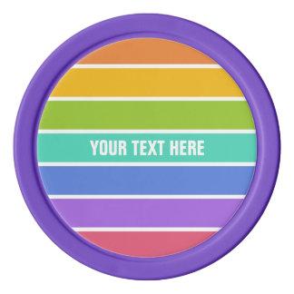 虹はカスタムなポーカー用のチップを着色します ポーカーチップ