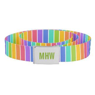 虹はカスタムなモノグラムベルトを着色します ベルト