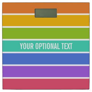 虹はカスタムな体重計を着色します 体重計