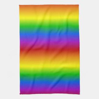虹はカスタムな台所タオルを着色します キッチンタオル
