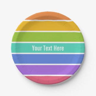 虹はカスタムな紙皿を着色します ペーパープレート