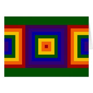 虹はバースデー・カードを平方します カード