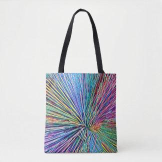 虹はプリントのトートバックをくまなく植物を着色します トートバッグ