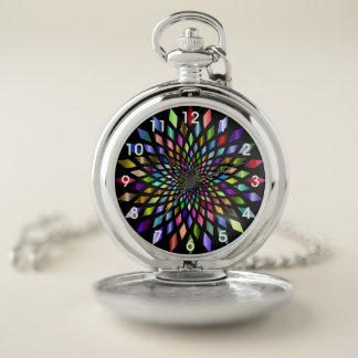 虹は幾何学的設計の壊中時計を破烈させました ポケットウォッチ