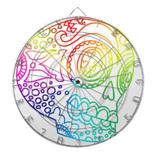 虹は愛の砂糖のスカルを並べます ダーツボード