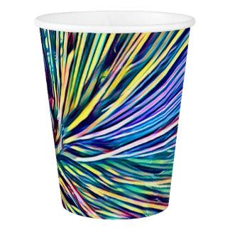 虹は植物のファンキーな紙コップを着色します 紙コップ