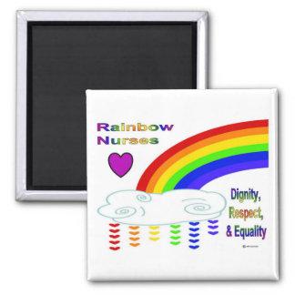 虹は正方形の磁石を看護します マグネット