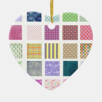 虹は正方形パターンをタイルを張りました セラミックオーナメント
