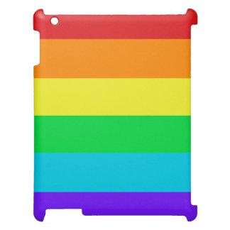 虹は無光沢のiPadの空気小型網膜の箱を縞で飾ります iPadケース