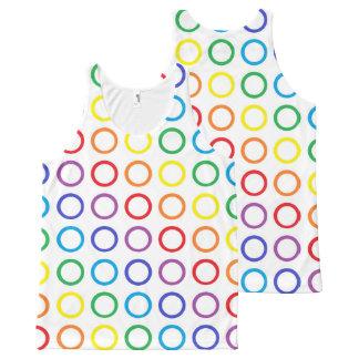 虹は白を一周します オールオーバープリントタンクトップ