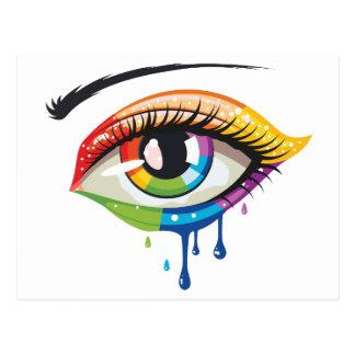 虹は目を着色します ポストカード