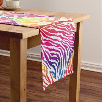 虹は縞で飾ります ショートテーブルランナー
