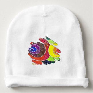 虹は芸術のらせん状のチャクラの赤ん坊の帽子を着色します ベビービーニー