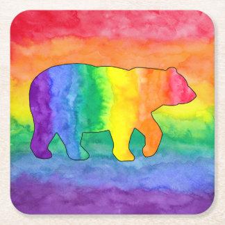虹は虹の洗浄紙のコースターに関係します スクエアペーパーコースター