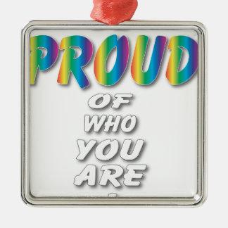 虹は誇りを持ったです(黒で最も最高のな一見) メタルオーナメント