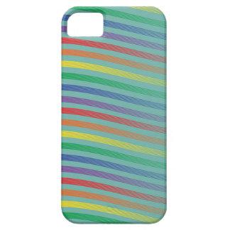 虹は軽いティール(緑がかった色)で縞で飾ります iPhone SE/5/5s ケース