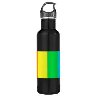 虹は3アルミニウムを縞で飾ります ウォーターボトル
