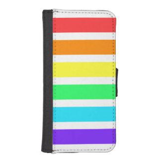 虹はiPhone 5/5sのウォレットケースを縞で飾ります iPhoneSE/5/5sウォレットケース