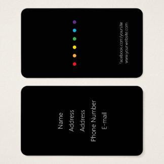 虹はLGBTのプライドに点を打ちます 名刺