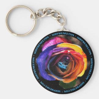 虹ばら色のKeychainをサーフします キーホルダー