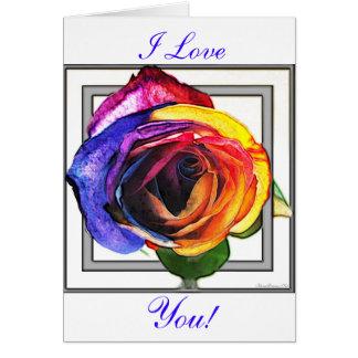 虹を愛サーフすることはあなたが梳くI上がりました カード